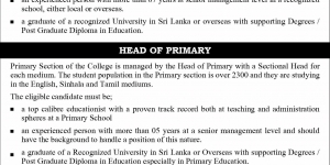 Academic vacancies